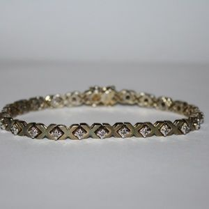 Jewelry - 7.5 inches vintage sterling silver bracelet